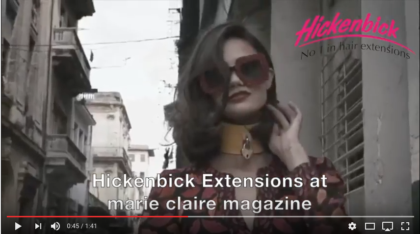 Hickenbick Hair at marie claire magazine with top model anjaleuenberger